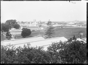 View of the Auckland Exhibition from Auckland Hospital