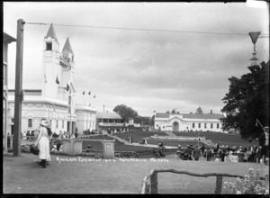 View of the Palace of Industries and Concert Hall, Auckland Exhibition, Auckland Domain