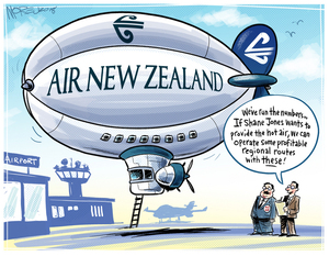 [Air New Zealand zeppelin could fly regional routes if Shane Jones provides hot air]