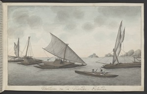 Artist unknown: Vaartuigen van de Vrienden-Eilanden [1774. Copied ca 1785]