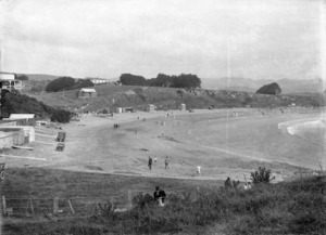 Titahi Bay beach - Photograph taken by William Hall Raine