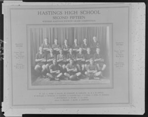 Old photo, Hastings High School, 2nd XV