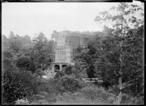 Grafton Bridge, Auckland, under construction