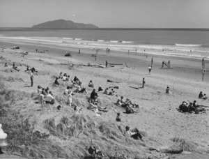 People on Otaki Beach