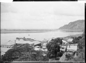 View of Whakatane towards the mouth of the Whakatane River