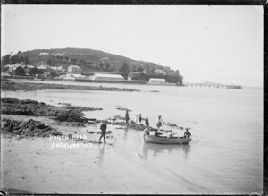 View looking across Torpedo Bay to North Head, Devonport