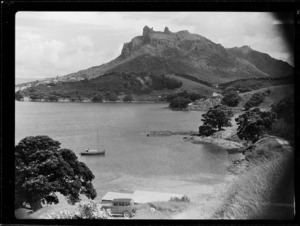 View of Urquharts Bay and Mount Manaia