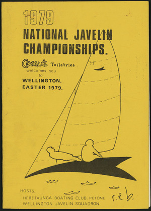 Programme cover - 1979 National Javelin Championships