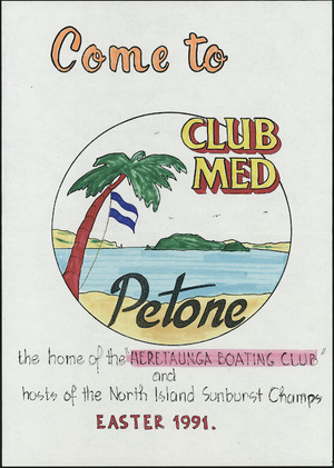 Poster - Come to Club Med, Petone