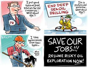 SAVE OUR JOBS!! Resume risky oil expoloration NOW!