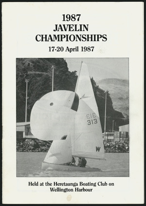 Programme cover - 1987 Javelin Championships
