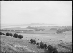 View of Week's Island (early name for Puketutu Island), Manukau Harbour, Auckland