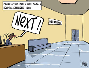 Hawkey, Allan Charles, 1941- :Missed appointments cost Waikato Hospital $ millions - News'. 29 April 2011