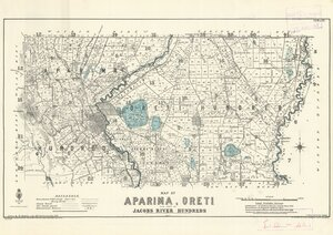 Map of Aparima, Oreti and part of Jacobs River hundreds [electronic resource] / drawn by W. Deverell, July 1896.