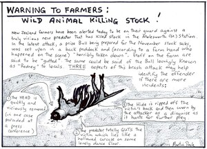 Doyle, Martin, 1956-:Warning to farmers - wild animal killing stock. 3 May 2011