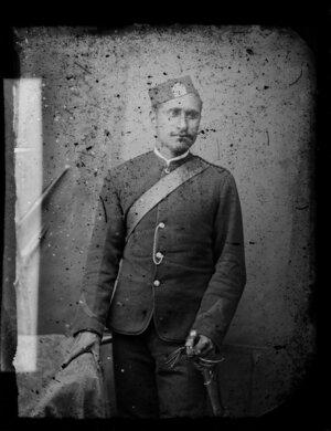 Unidentified man in military uniform