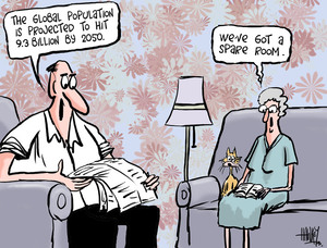 "Hawkey, Allan Charles, 1941- :""The global population is projected to hit 9.3 billion by 2050.""... 5 May 2011"