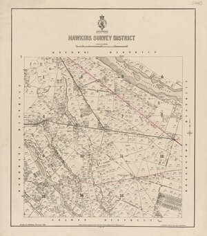 Hawkins Survey District [electronic resource] / drawn by J.M. Kemp.