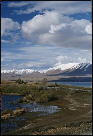 View of Lake Tekapo and Lake MacGregor