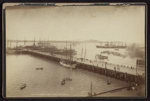 Valentine, George Dobson, 1852-1890 :Queens Wharf, Auckland Harbour