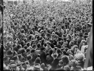 Crowd at the British versus Maori game