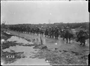 New Zealand reinforcements near Kansas Farm, World War I
