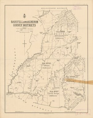 Barefell and Acheron Survey Districts [electronic resource] / drawn by W.T. Nelson, Jany. 1901.