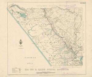 Kai Iwi & Kaihu Survey Districts [electronic resource] / Wm. Bardsley delt. 1927.