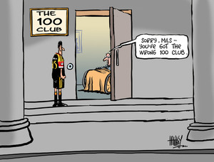 "Hawkey, Allan Charles, 1941- :""Sorry, Mils - you've got the wrong 100 club."" 16 May 2011"