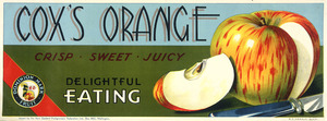 New Zealand Fruitgrowers' Federation :Cox's Orange, crisp sweet juicy; delightful eating / Dominion Mark Fruit, N. Z. [1931-1935]