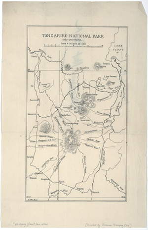 Tongariro National Park and environs [cartographic material] / A. & W. Mead.