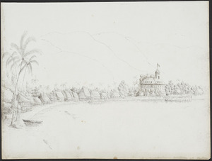 Speer, John, d 1848 :[View of Papeete from the Harbour, November 1845].