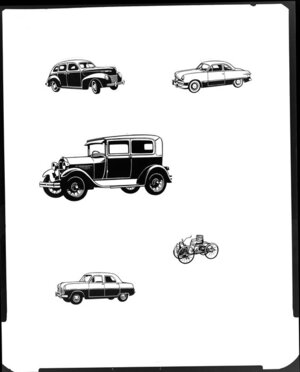 Illistrations of old cars