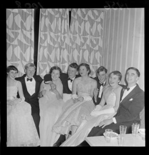 Guests at a debutante dance, Hutt Valley