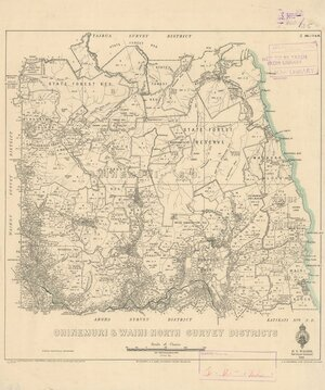 Ohinemuri & Waihi North Survey Districts [electronic resource] / delt. H.R. Cochran, March 1934.