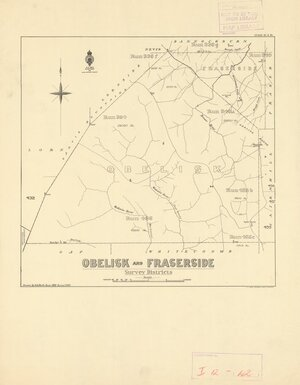 Obelisk and Fraserside survey districts [electronic resource] / drawn by S.A. Park, June 1921.