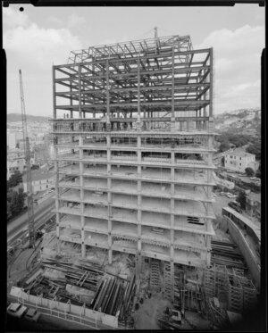 Reserve Bank building construction site, The Terrace, Wellington