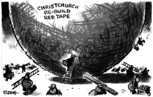 Evans, Malcolm Paul, 1945- :Christchurch re-build red tape. 24 May 2011