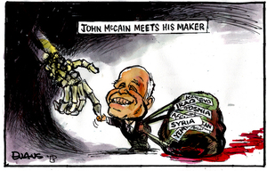 John McCain meets his maker