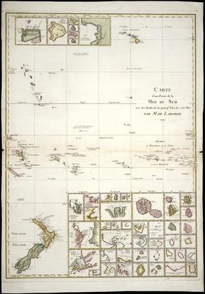Carte d'une partie de la Mer du Sud avec des détails sur les principles isles de cette mer / par M. de Laborde.