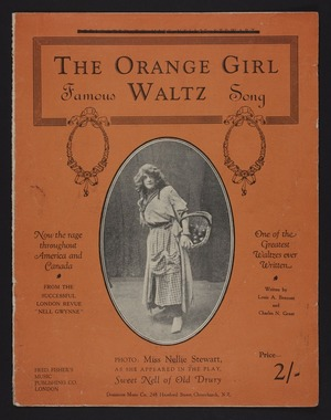 The orange girl : famous waltz song / written by Louis A. Benzoni and Charles N. Grant.