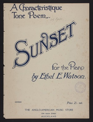 Sunset : for the piano / by Ethel E. Watson.