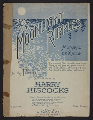 Moonlight ripples : morceau de salon : for the piano / composed by Harry Hiscocks.