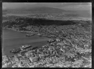 Downtown Wellington and Harbour