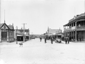 Looking down the main street in Dargaville, Northland
