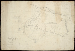 Wyles & Buck (Surveyors) :Kapiti, Wellington, 1872 [ms map]. Messrs Wyles & Buck, surveyors etc., Wellington, 1872