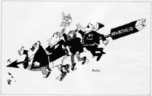 Brockie, Bob, 1932- :Apartheid. Stop the tour. 4 August 1981.