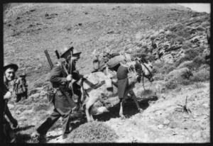 New Zealand Army Service Corps attached to 5th Field Ambulance, at Kea Island, Greece, during World War II - Photograph taken by Ian Macphail