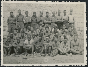 Allied Prisoners of war at Campo PG 78/1 at Aquafredda, Italy - Photograph taken by H R Dixon