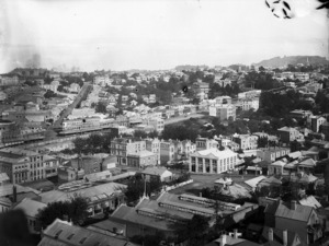 Part 6 of a 8 part panorama of Auckland, taken from St Matthew's Church